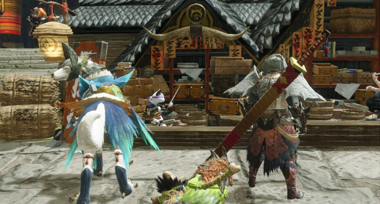 Monster Hunter Rise PSA: Don't forget to upgrade your buddies and check their skills screenshot