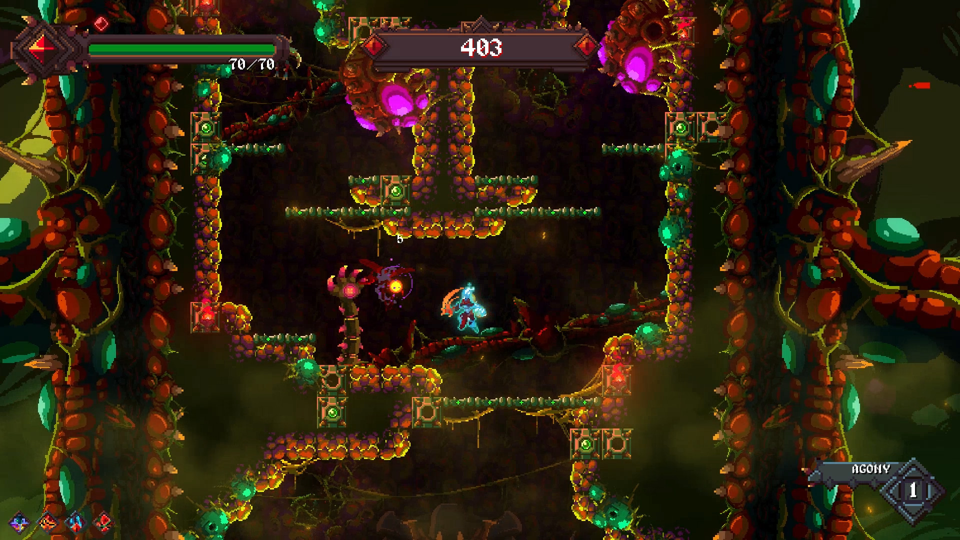 Rising Hell is a roguelite action-platformer about battling to the top of a hellish tower screenshot