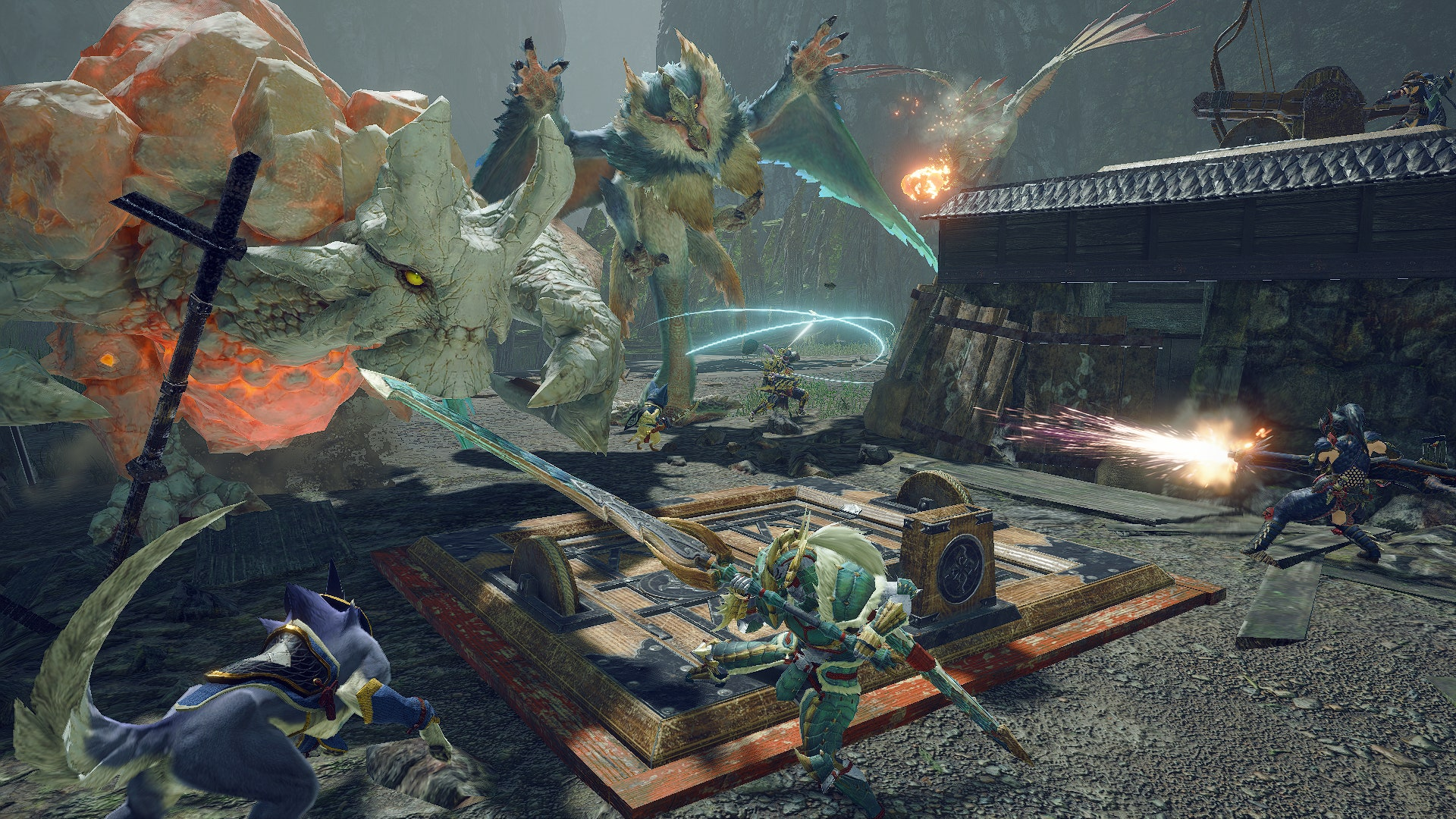 Monster Hunter Rise is getting a 600MB day one patch screenshot