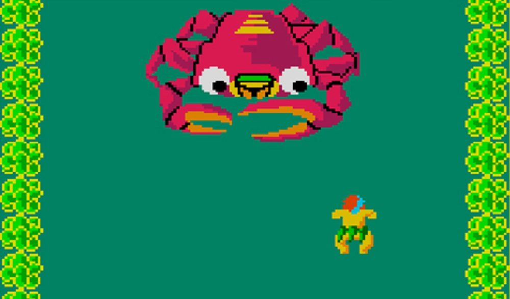 Watch out for Giant Enemy Crabs in Arcade Archives' Swimmer screenshot