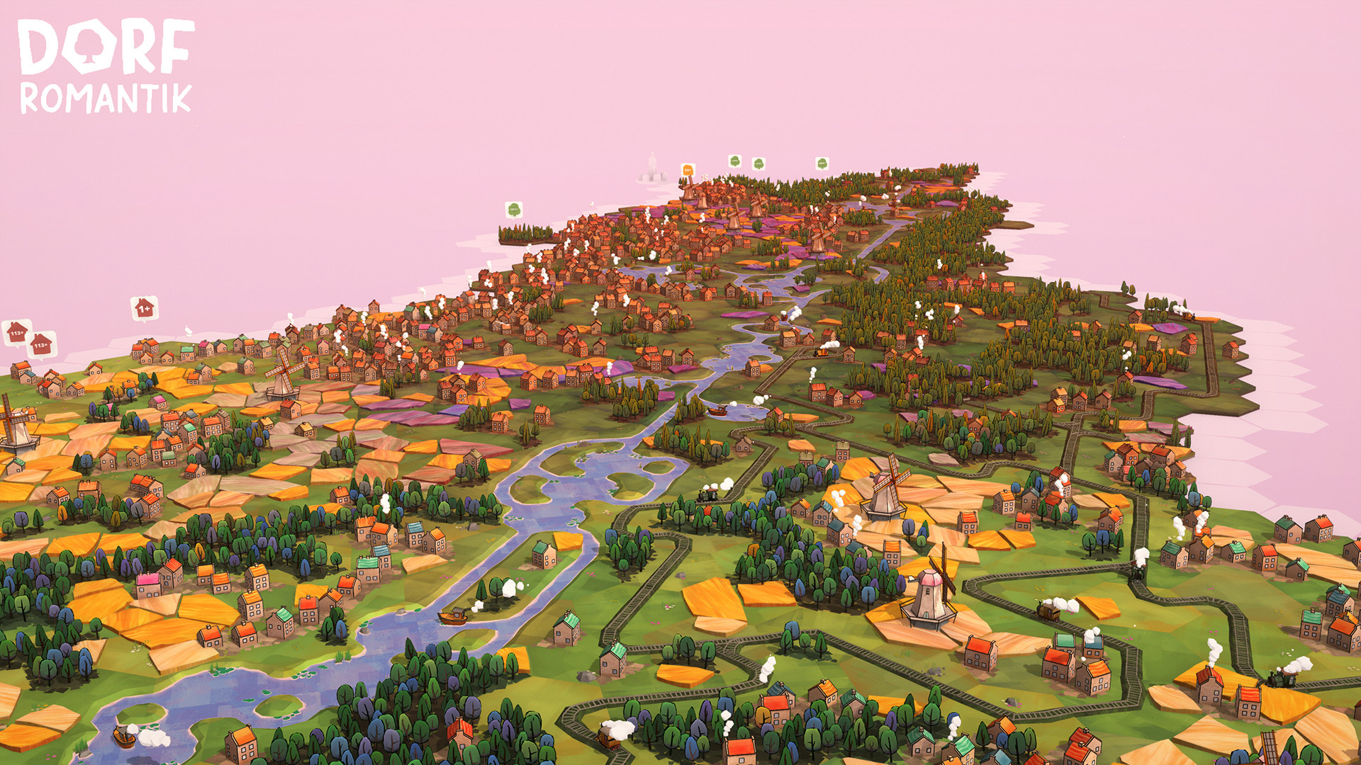 Dorfromantik, a peaceful city-builder, is out now on PC screenshot