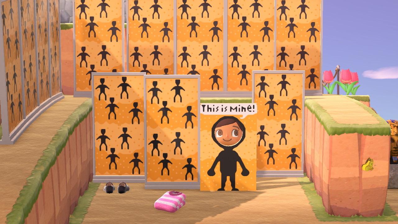 Someone brought a skin-crawling Junji Ito story into Animal Crossing: New Horizons using standees screenshot