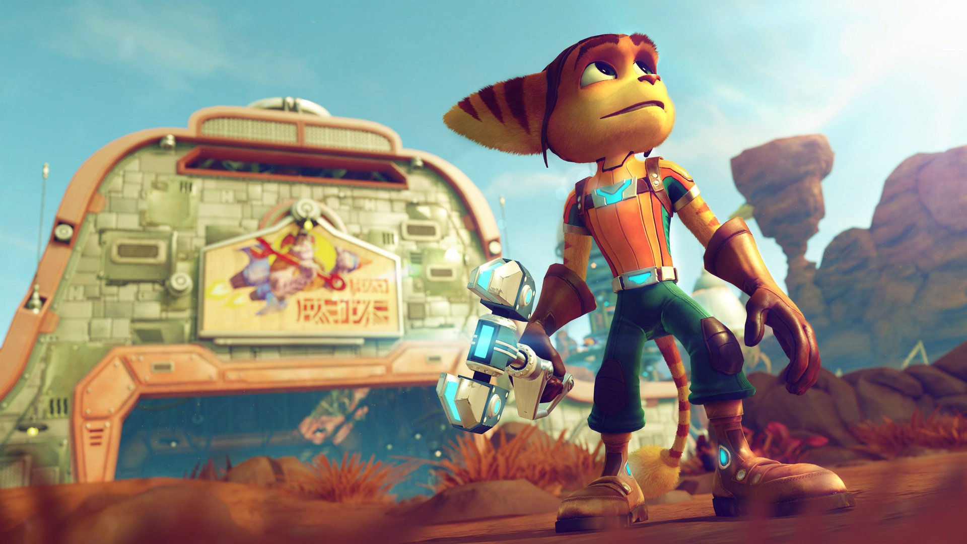 Ratchet & Clank will have a 60fps update for PS5 in April, so hang tight if you're about to play it screenshot