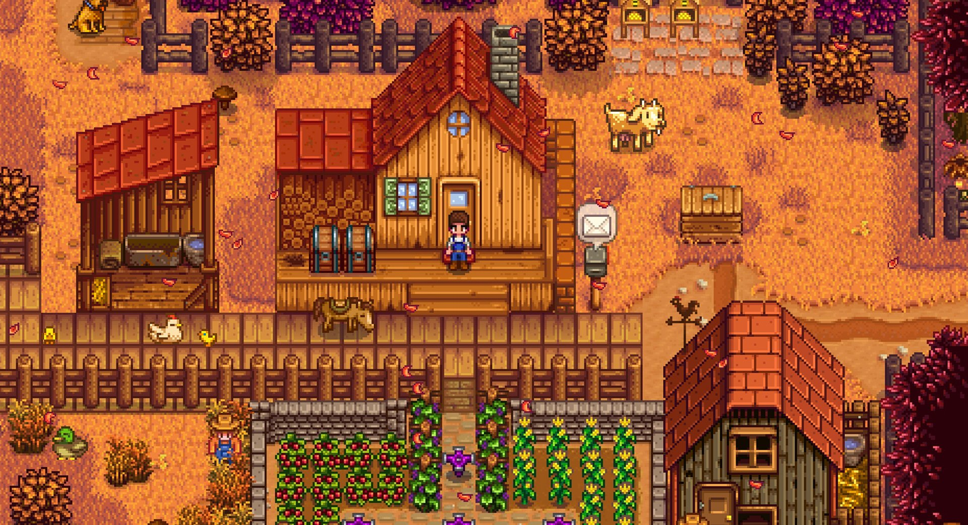 After hundreds of hours of Stardew Valley, I just learned there's an easier way to greet animals screenshot