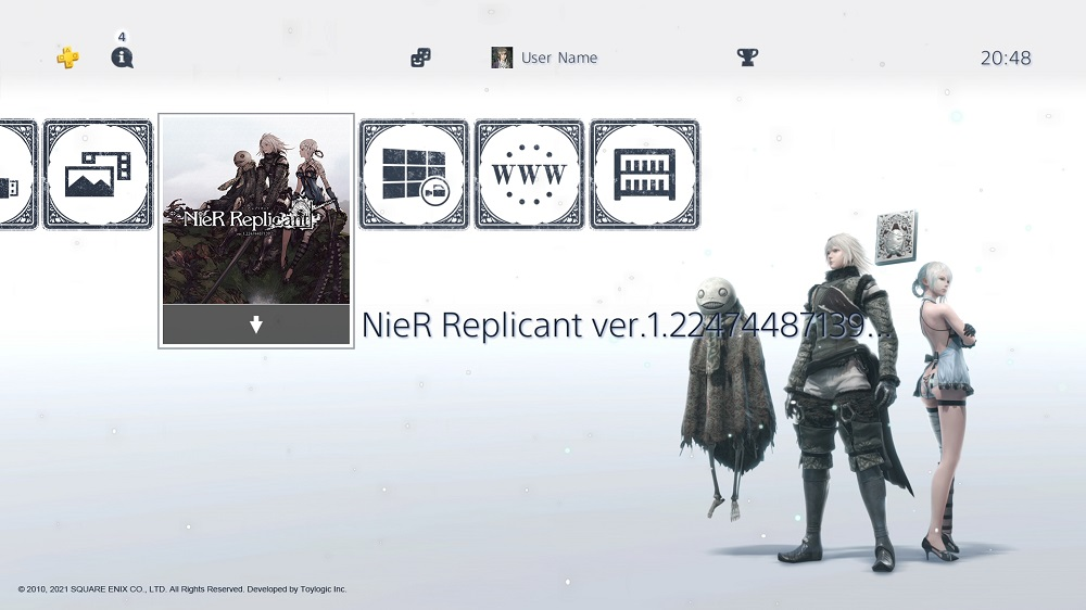 Picking up a first-print copy of NieR Replicant will bag you this stylish theme & avatar set screenshot