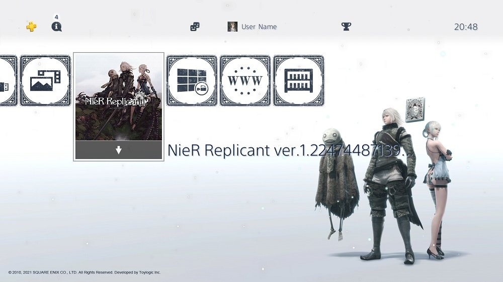Picking up a first-print PS4 copy of NieR Replicant will bag you this stylish theme & avatar set screenshot