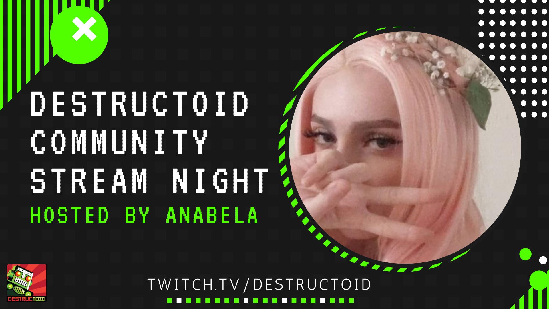 Destructoid community stream night is live on Twitch screenshot