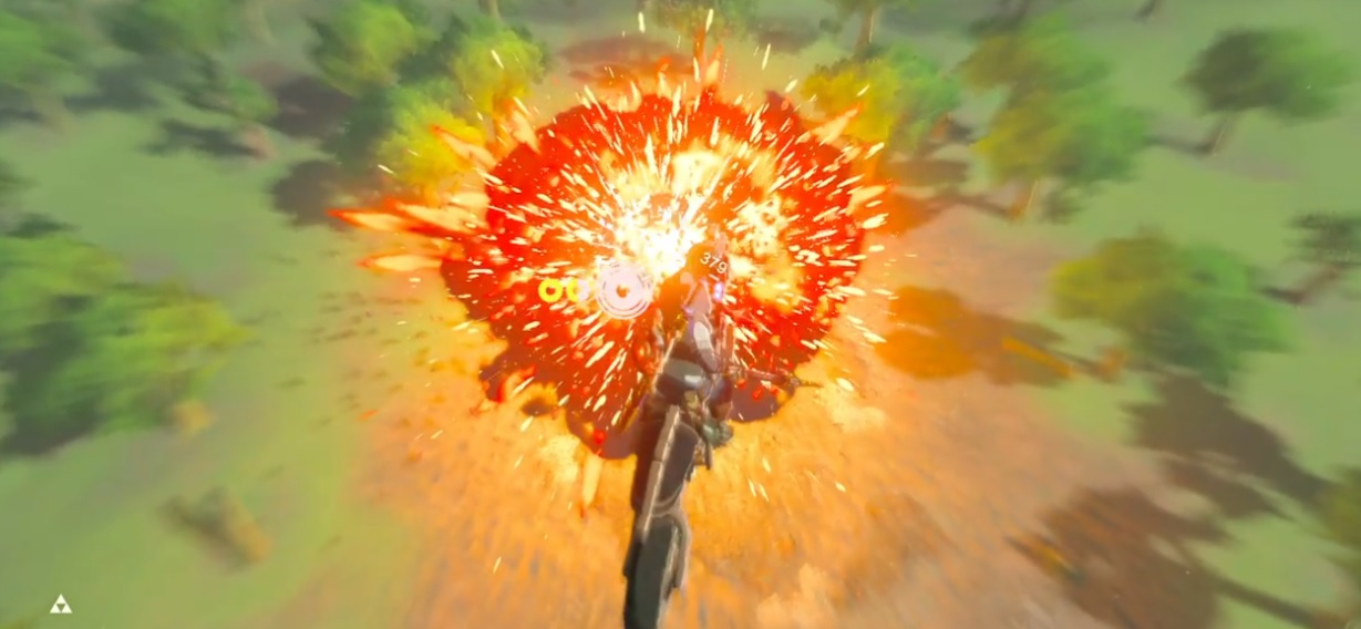 This Zelda: Breath of the Wild motorcycle stunt video is stylish and surgically efficient screenshot