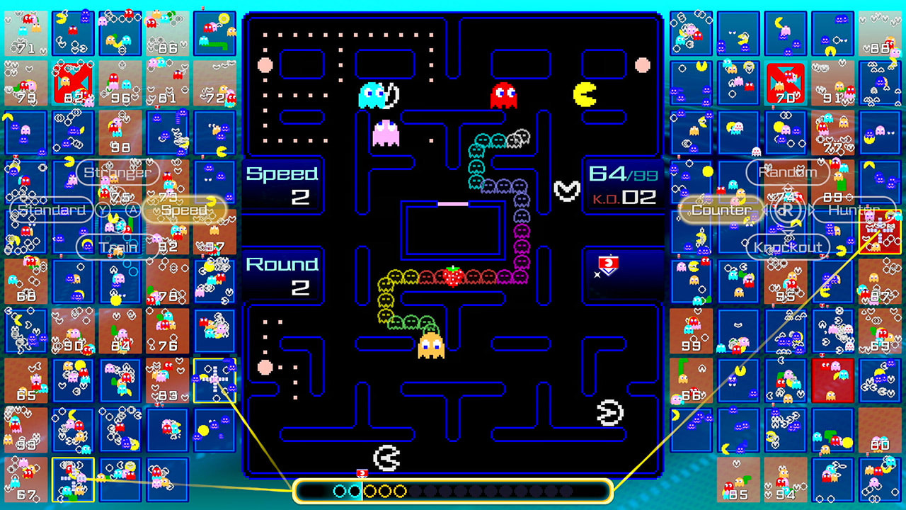 Pac-Man 99 is out tomorrow for Nintendo Switch Online and there's a single-player mode screenshot