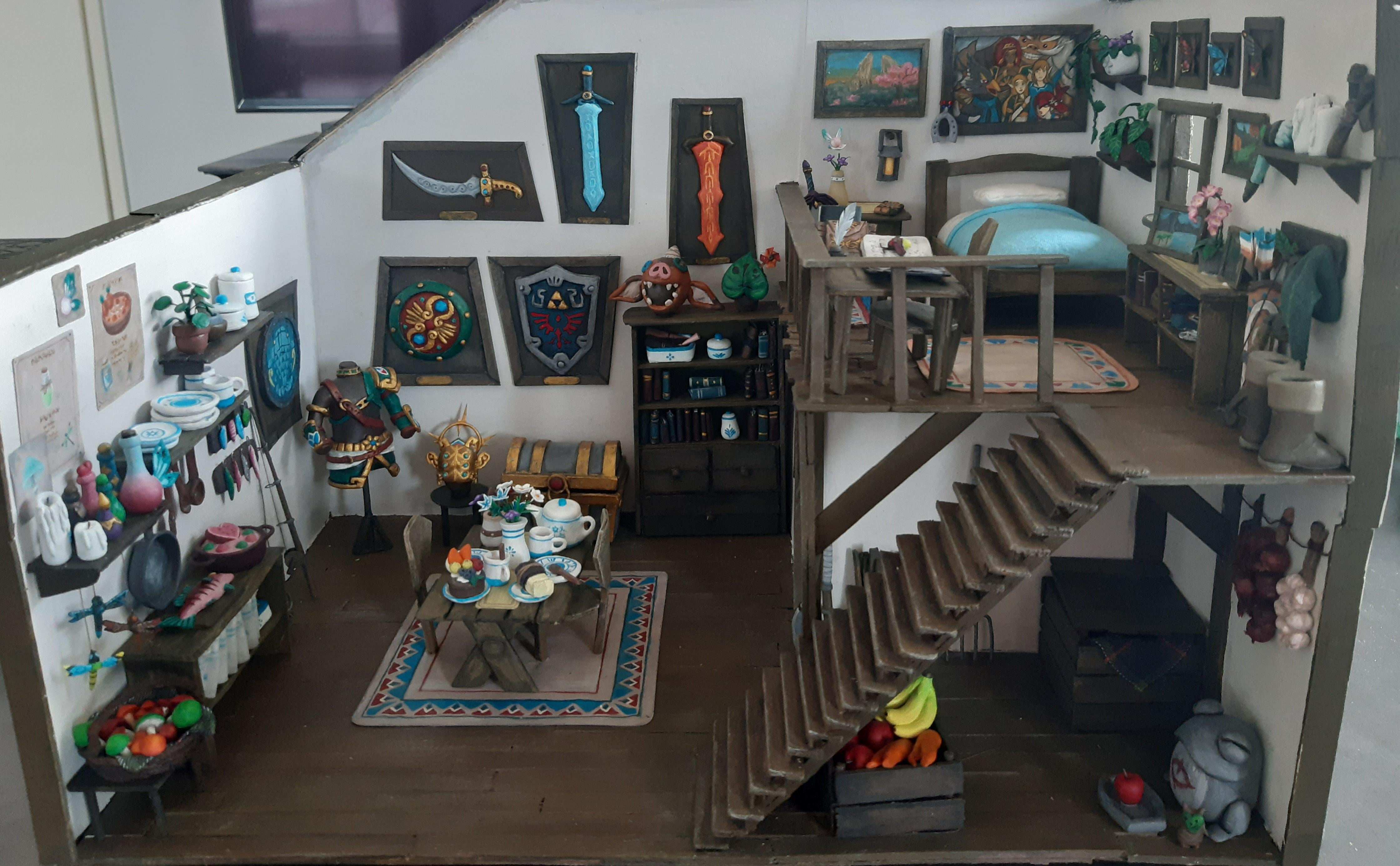 I want to live in this minature Zelda: Breath of the Wild Link house model screenshot