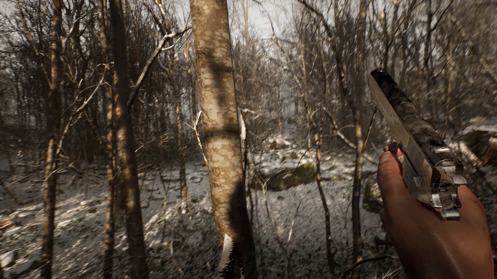 Survival horror game Abandoned is about waking up alone and hunted in the woods screenshot