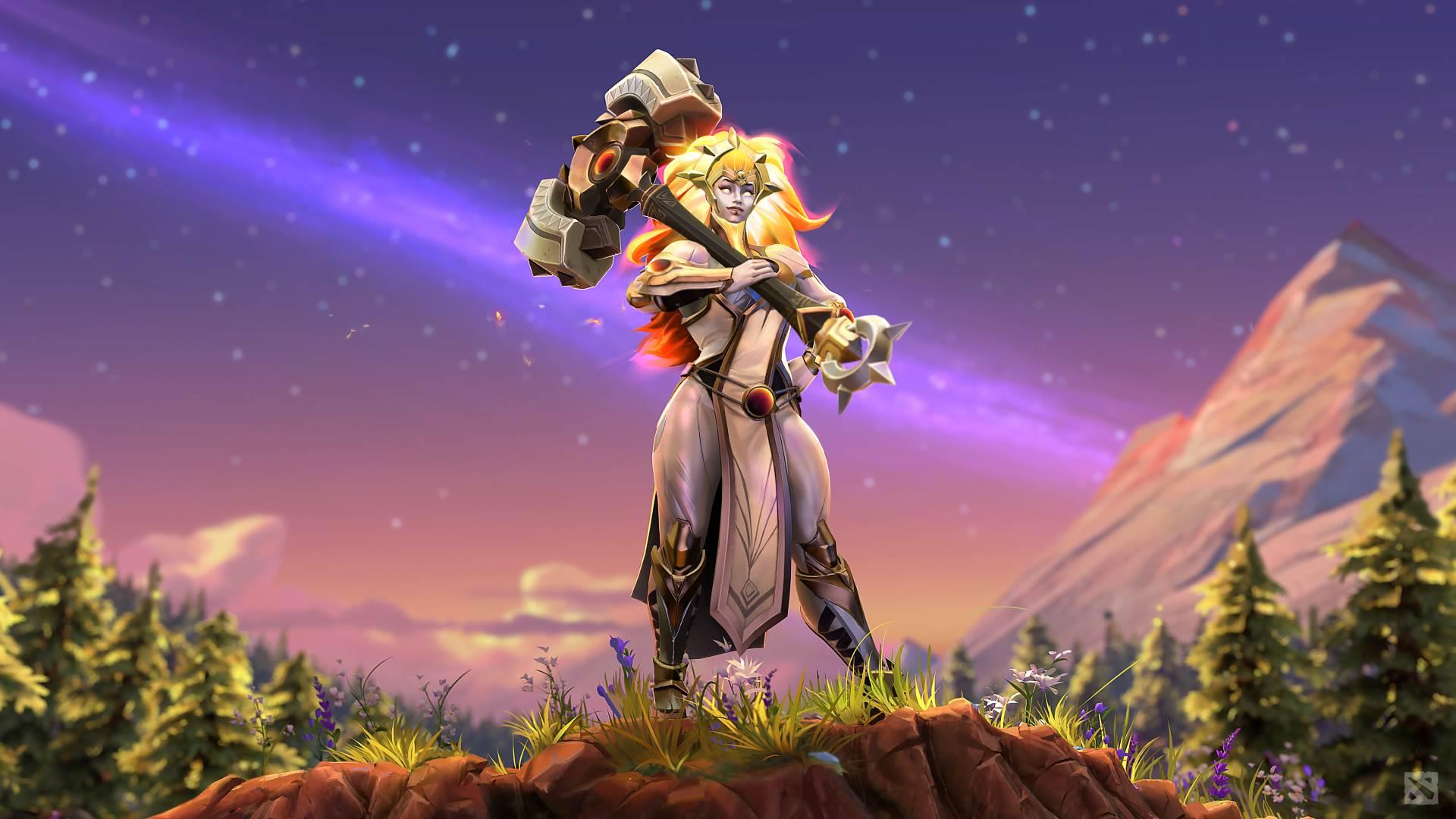 Dota 2 adds hammer-swinging new hero Dawnbreaker screenshot