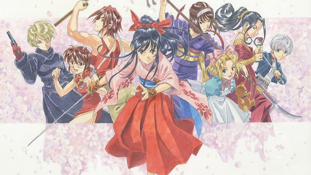 A celebration of Hidenori Matsubara's Sakura Wars art opens in Japan this month