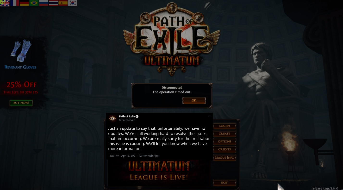 Path of Exile: Ultimatum's launch marred because of...page sizes?