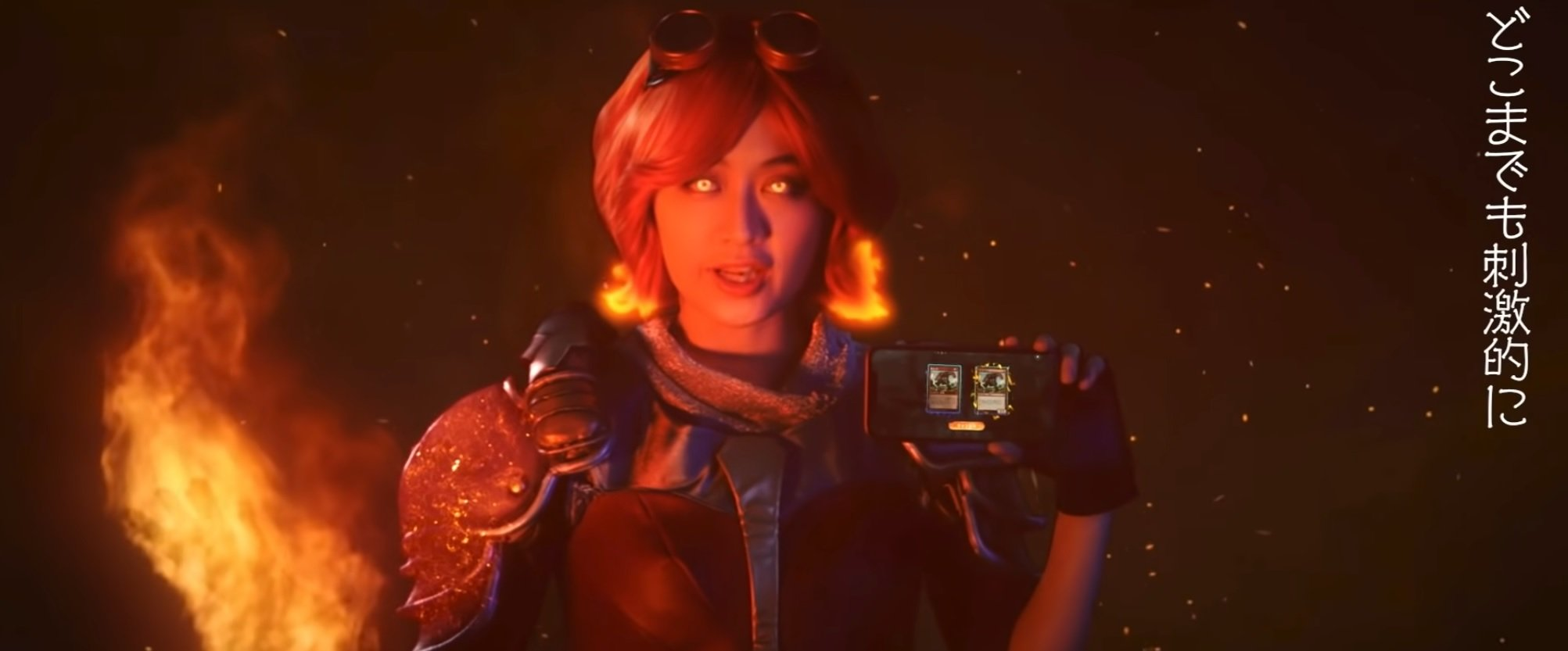 The Japanese commercial for Magic: Arena mobile is wild screenshot