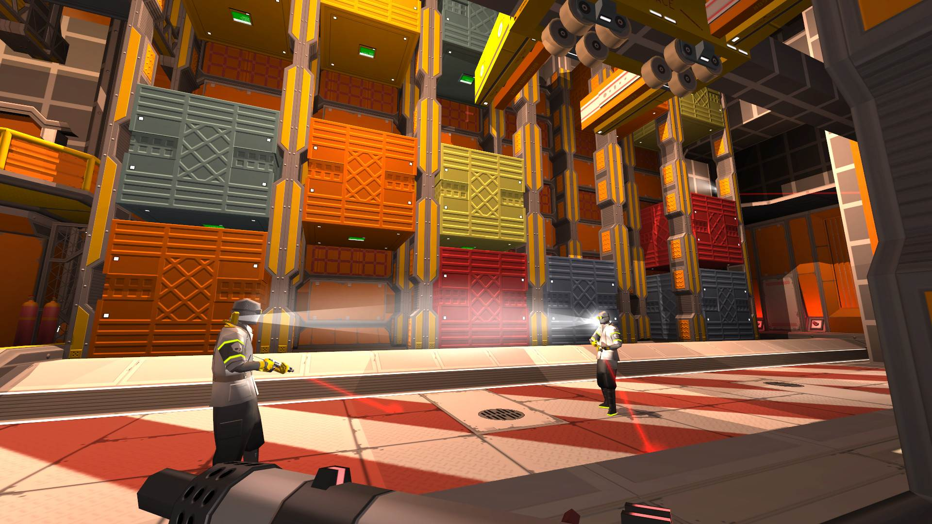 Blendo Games partners with Annapurna for its immersive space FPS Skin Deep screenshot