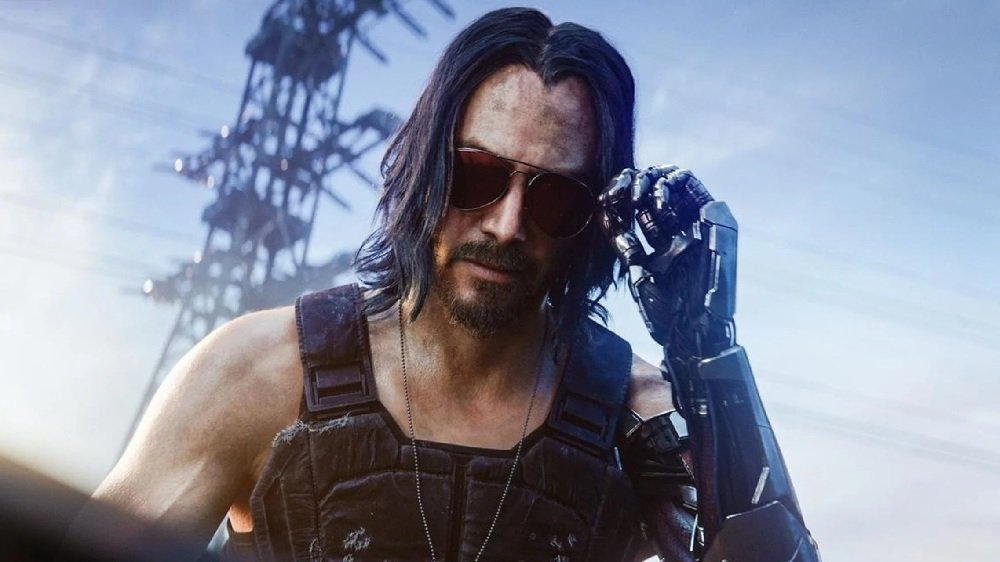 Cyberpunk 2077's clunky console port is back in the Top Ten screenshot