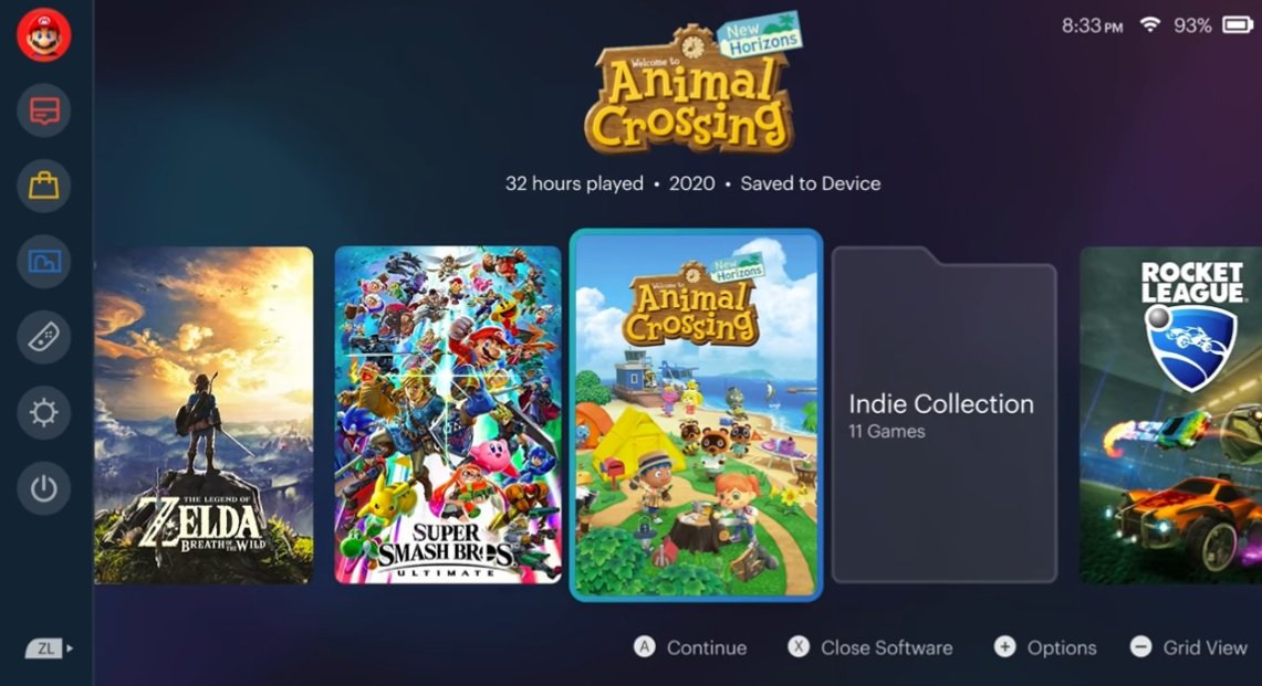 Oops, someone designed another cool looking Switch UI mockup with folders screenshot