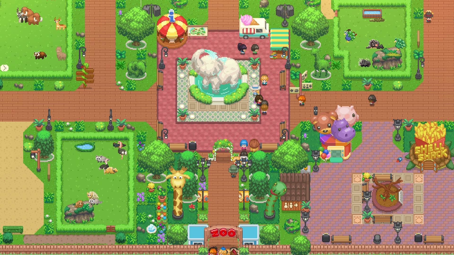 Let's Build a Zoo looks like an adorable zoo management sim with a dark side screenshot
