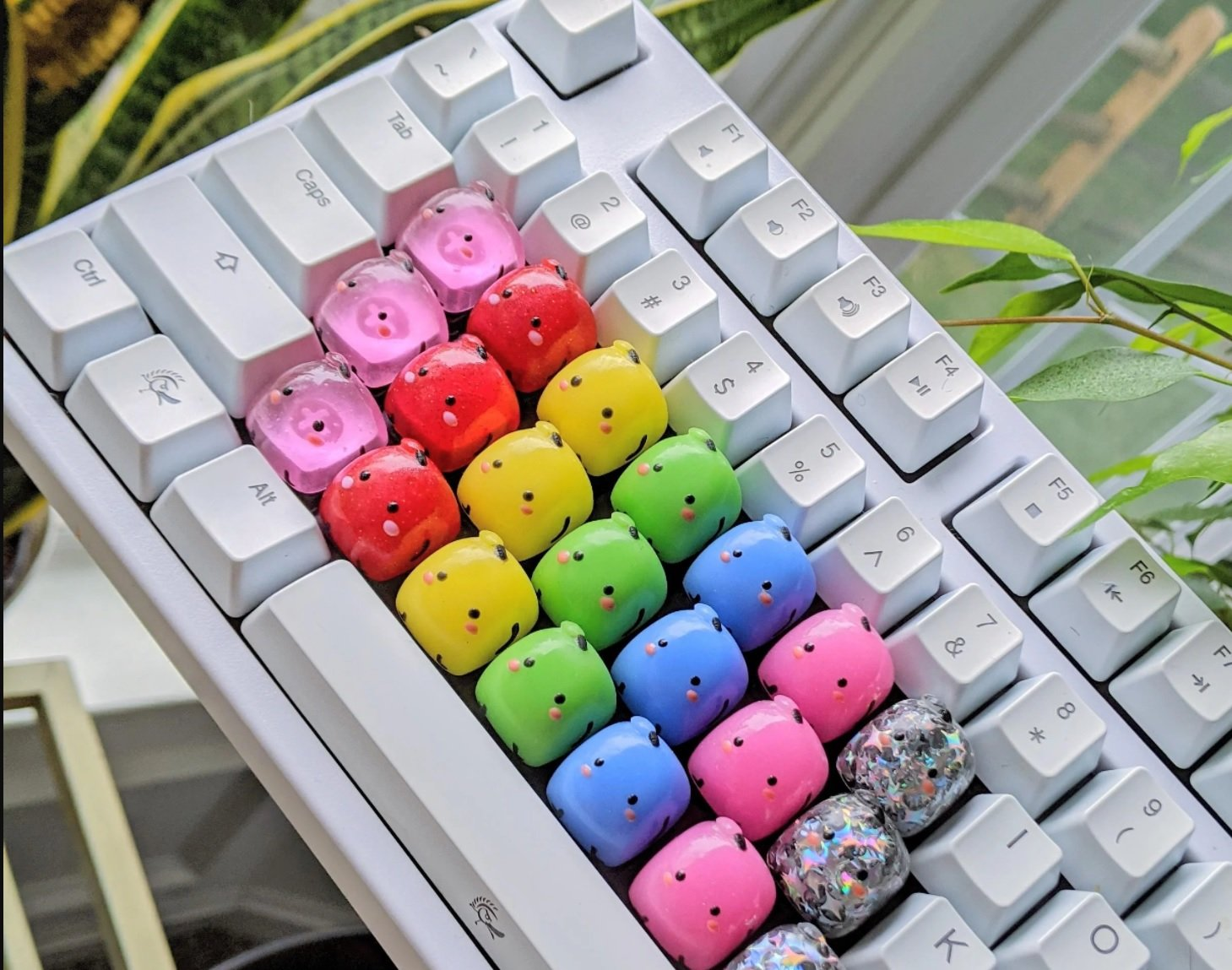 These Stardew Valley Junimo keyboard key caps are fire screenshot