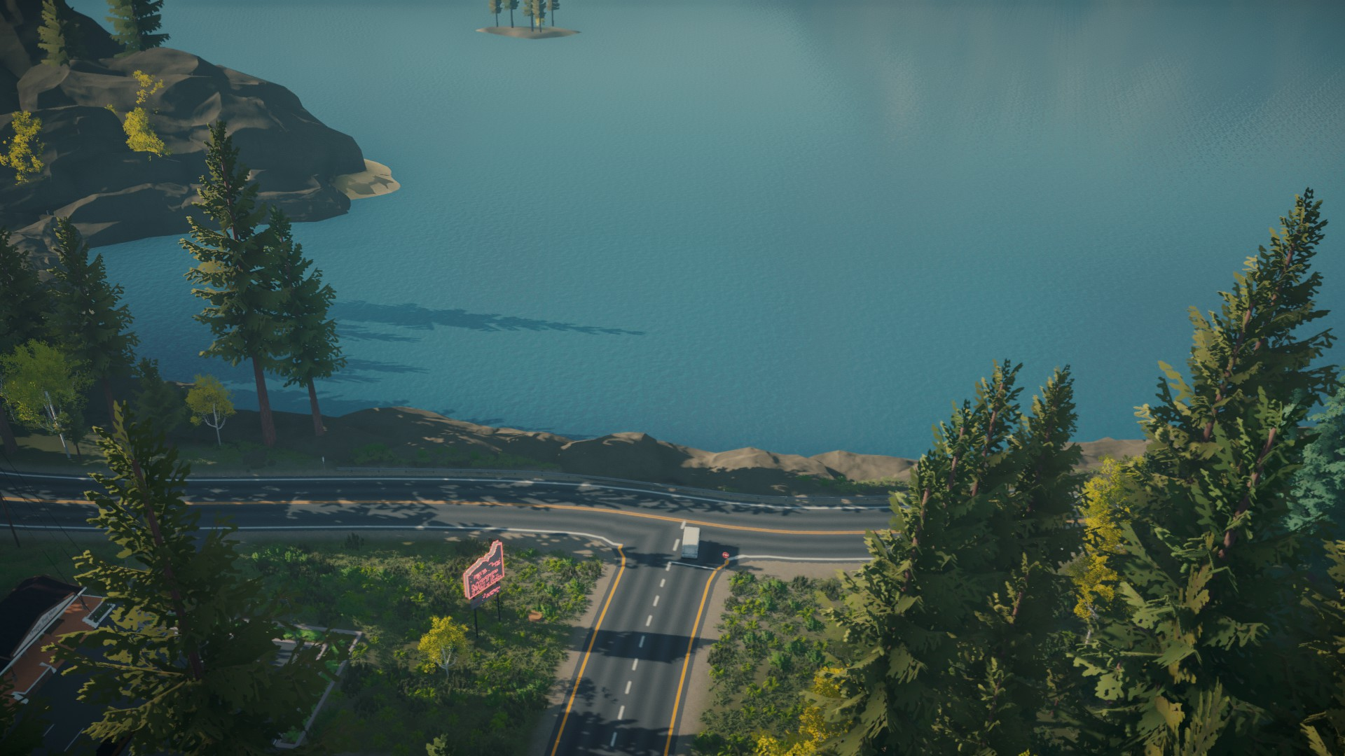 Lake builds on the simple beauty of delivering mail around a lake screenshot