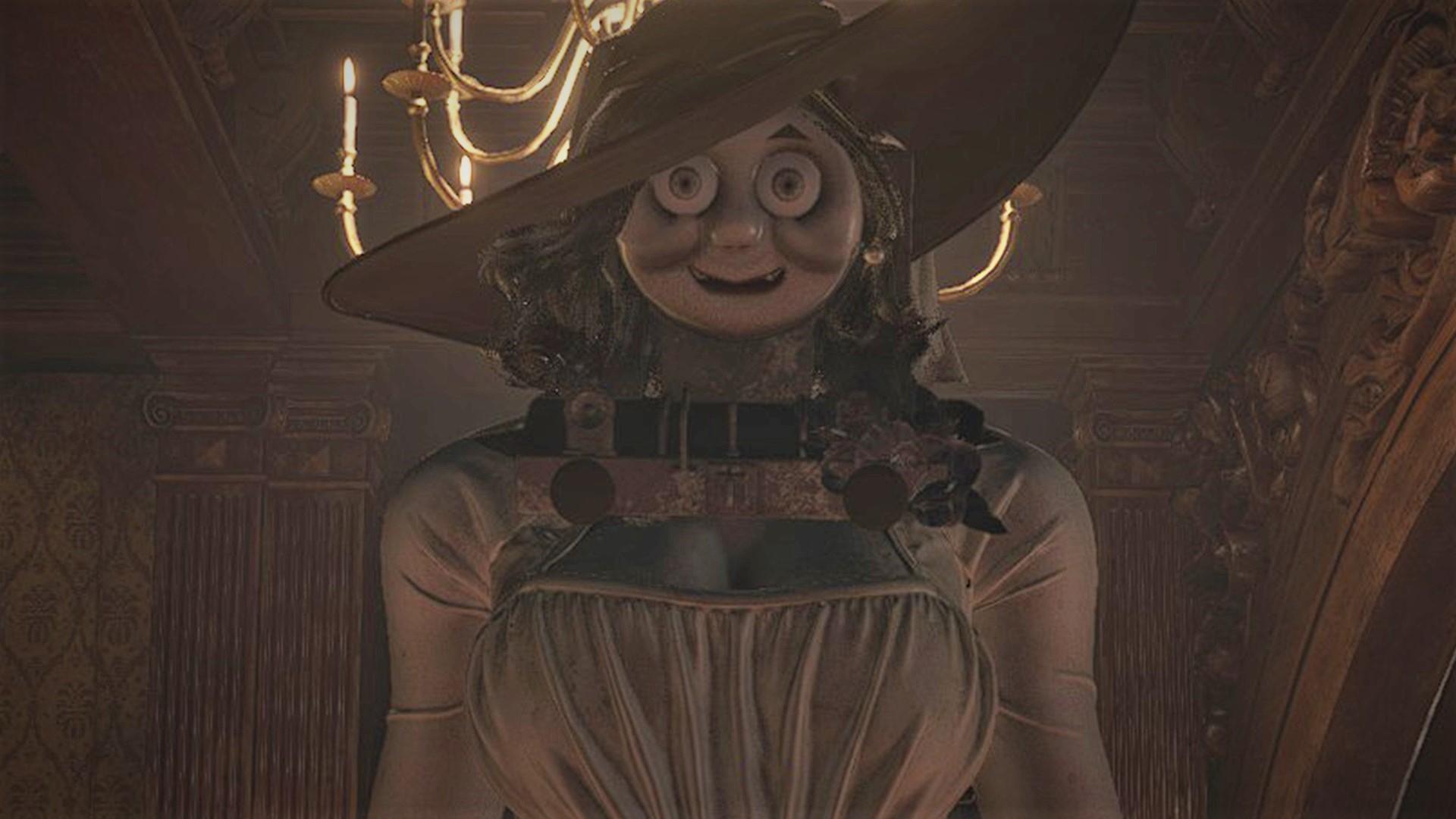Horrific Resident Evil Village mod sees Thomas the Tank Engine return as Lady Dimitrescu screenshot