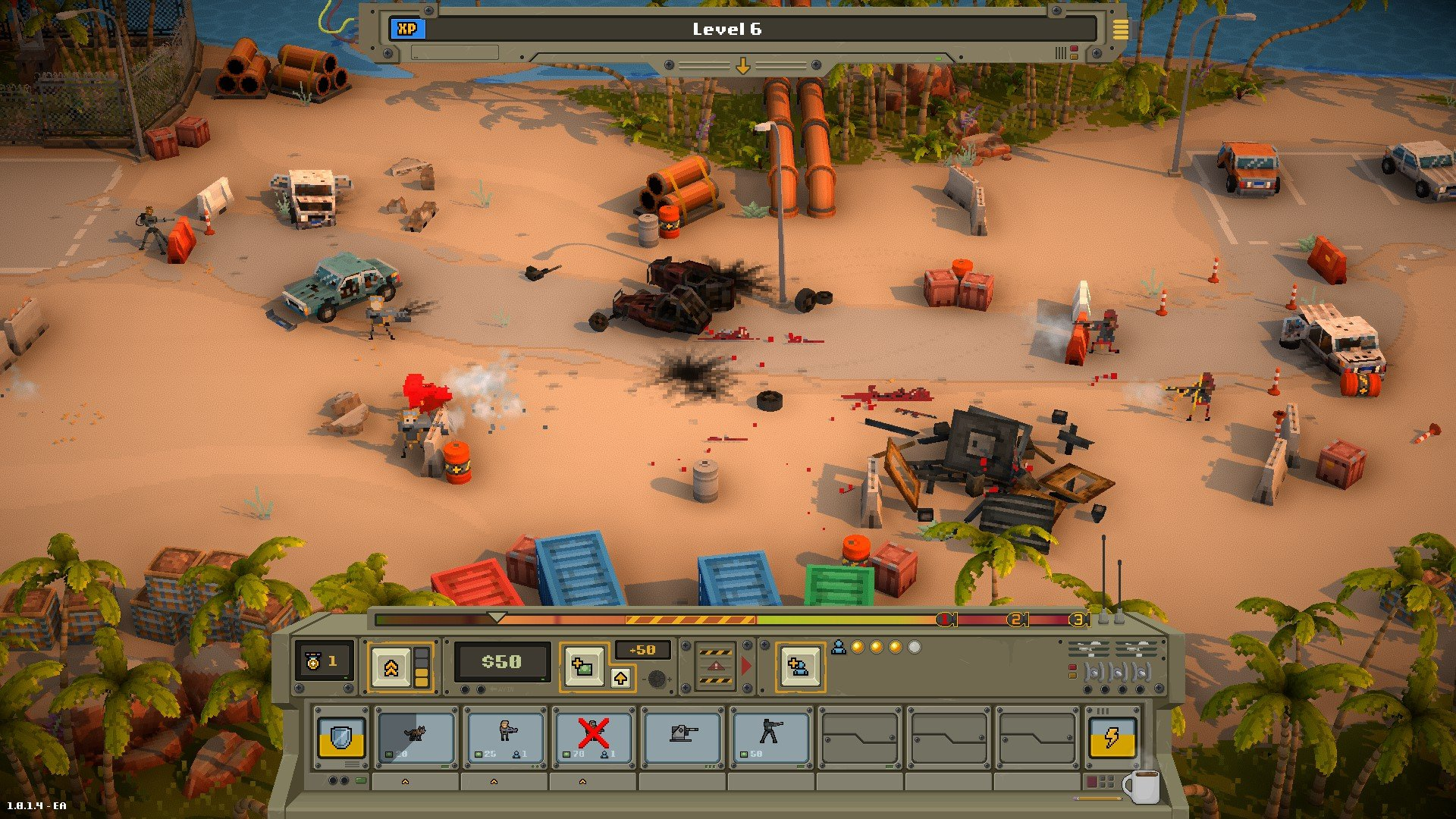 Warpips adds some meta-tension to the usual tug-of-war game screenshot