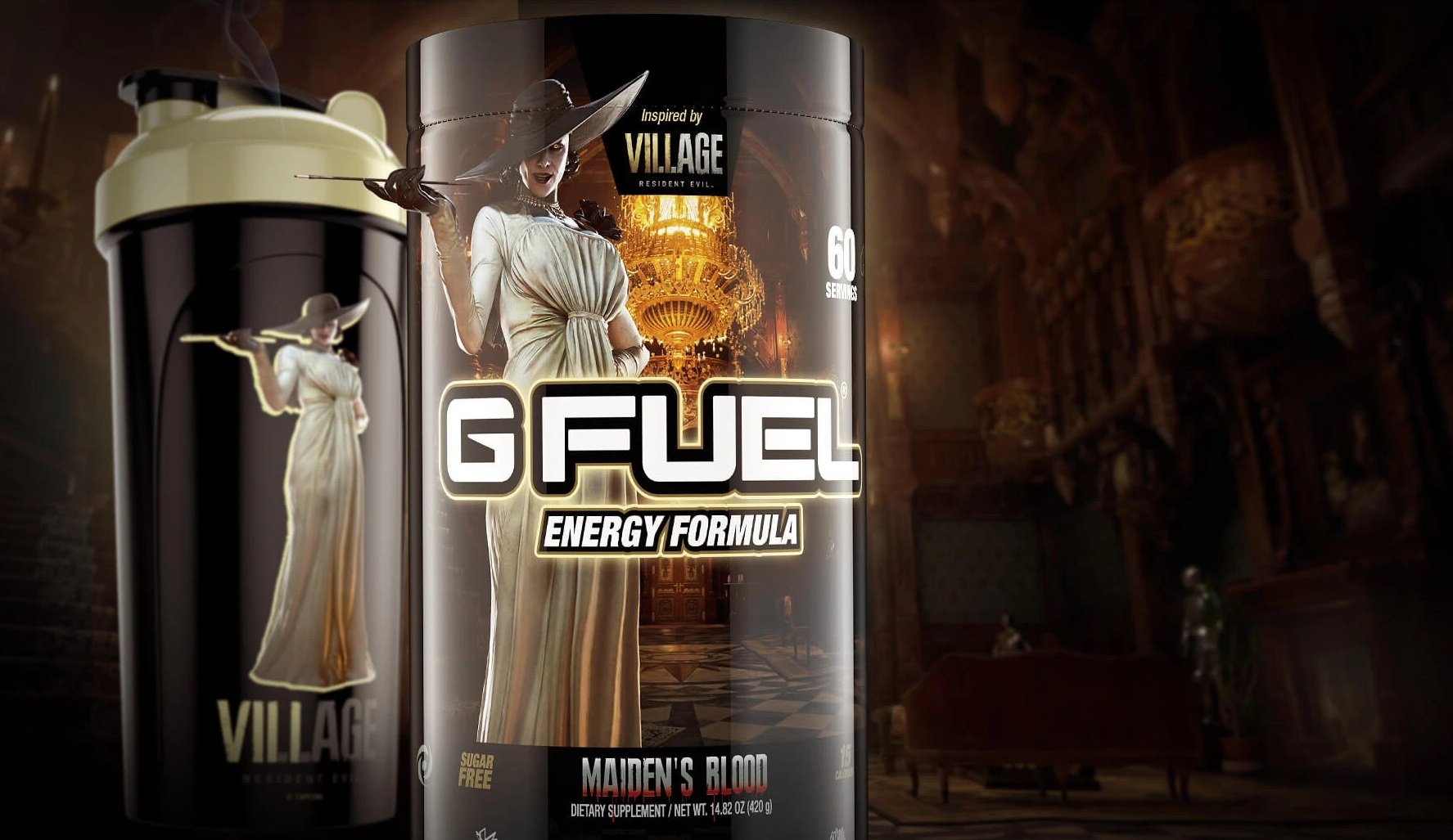 Resident Evil Village's Lady Dimitrescu to receive her own flavor of G Fuel screenshot