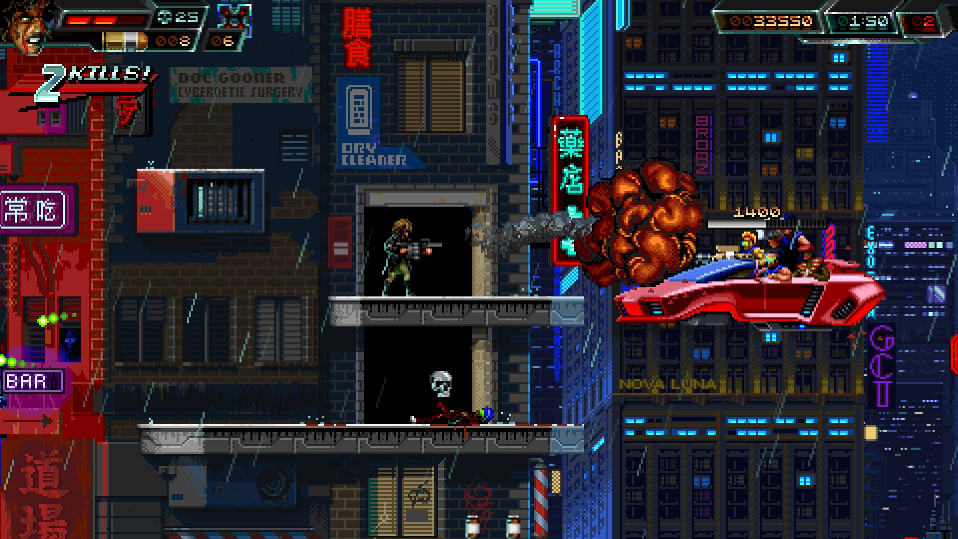 Huntdown for Steam is slicker and sicker than ever before screenshot