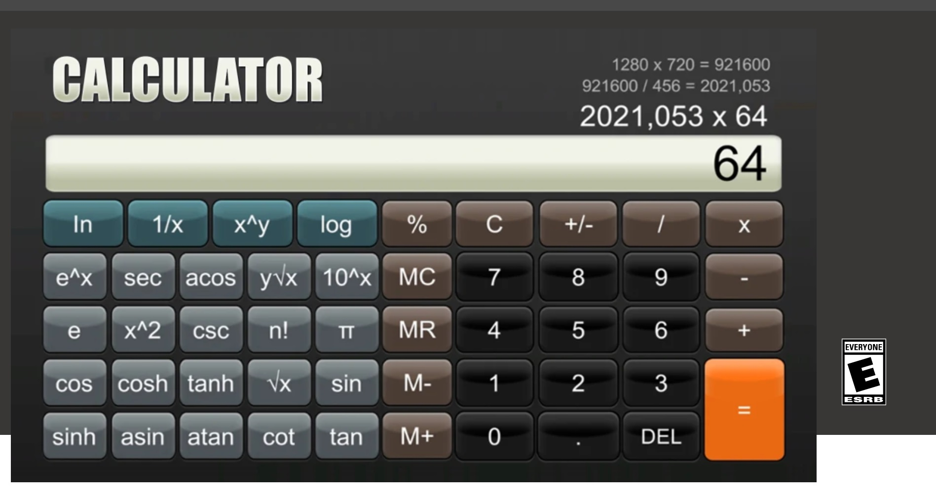 'Calculator' is coming out tomorrow for Switch, and I wonder if there's an emulator hidden inside of it screenshot