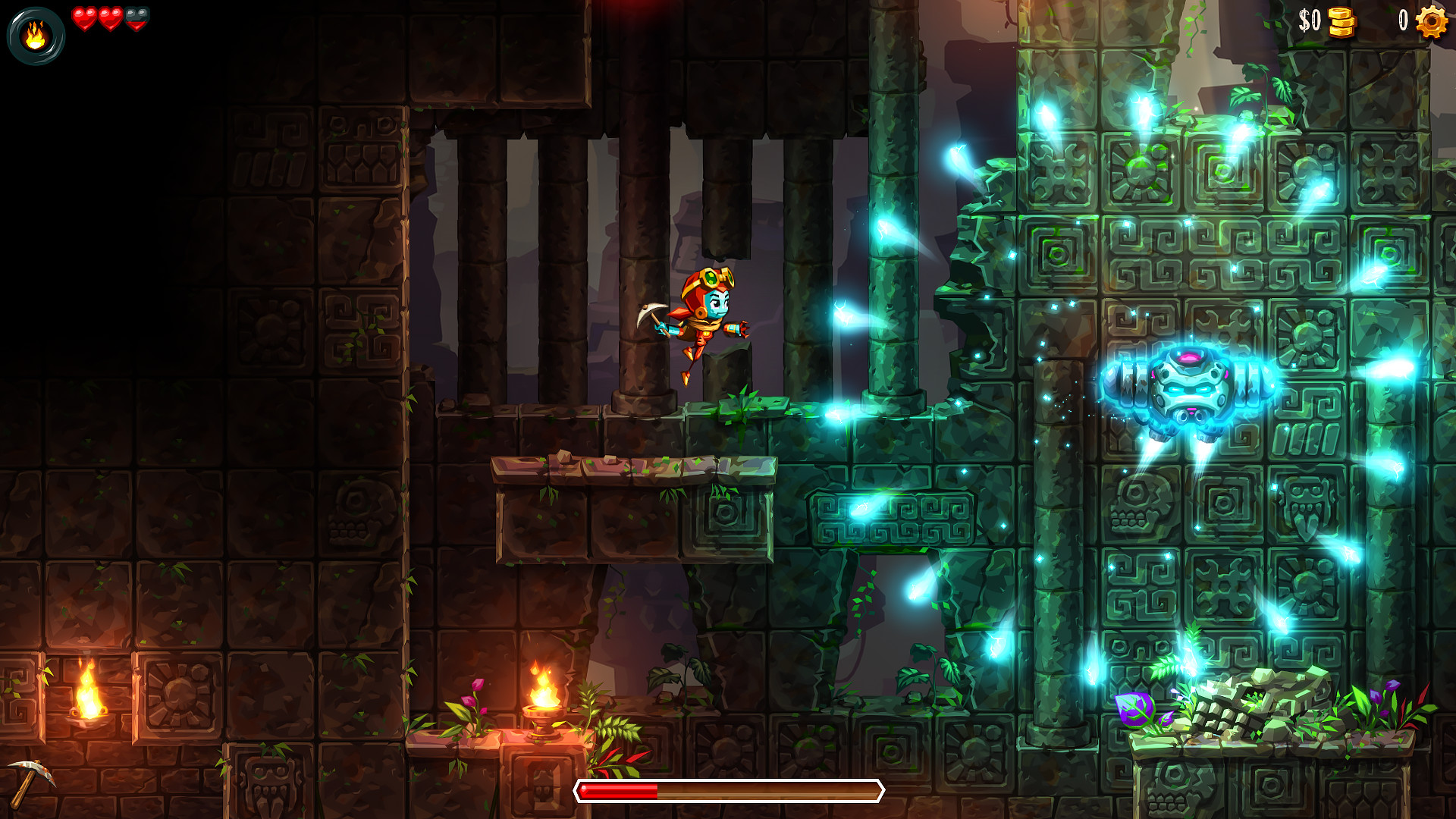 The folks behind the SteamWorld games say more are on the way, and I'll just take one more of each screenshot