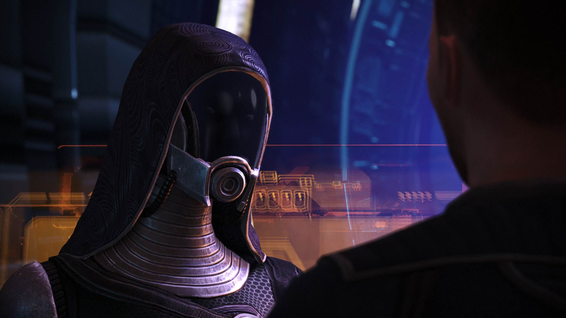 Mass Effect Legendary Edition changes infamous photo of Tali screenshot