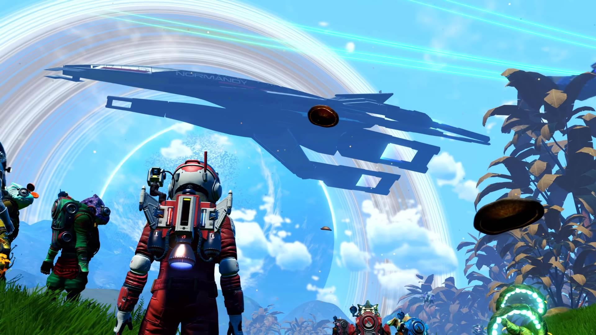 No Man's Sky players unlock Mass Effect's Normandy to add to their fleet screenshot