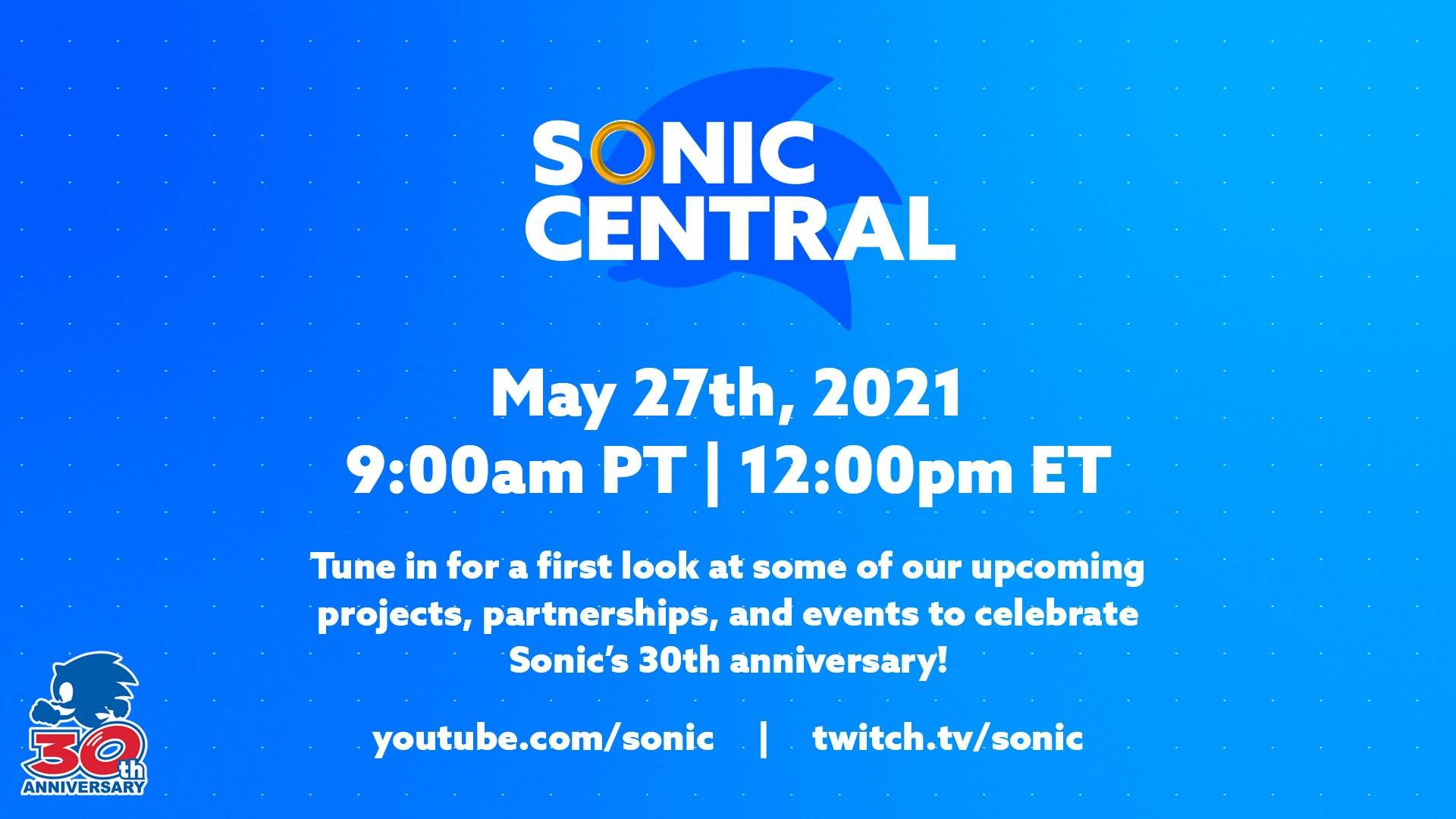 Sega is hosting a Sonic virtual event this week with a first look at upcoming projects screenshot