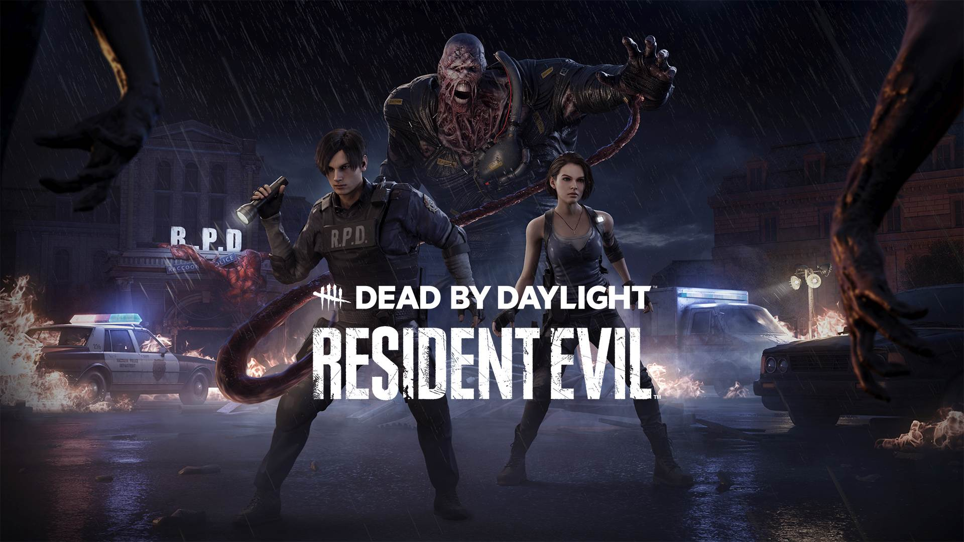 Resident Evil's Jill, Leon, Nemesis, and the Police Station are all coming to Dead by Daylight screenshot