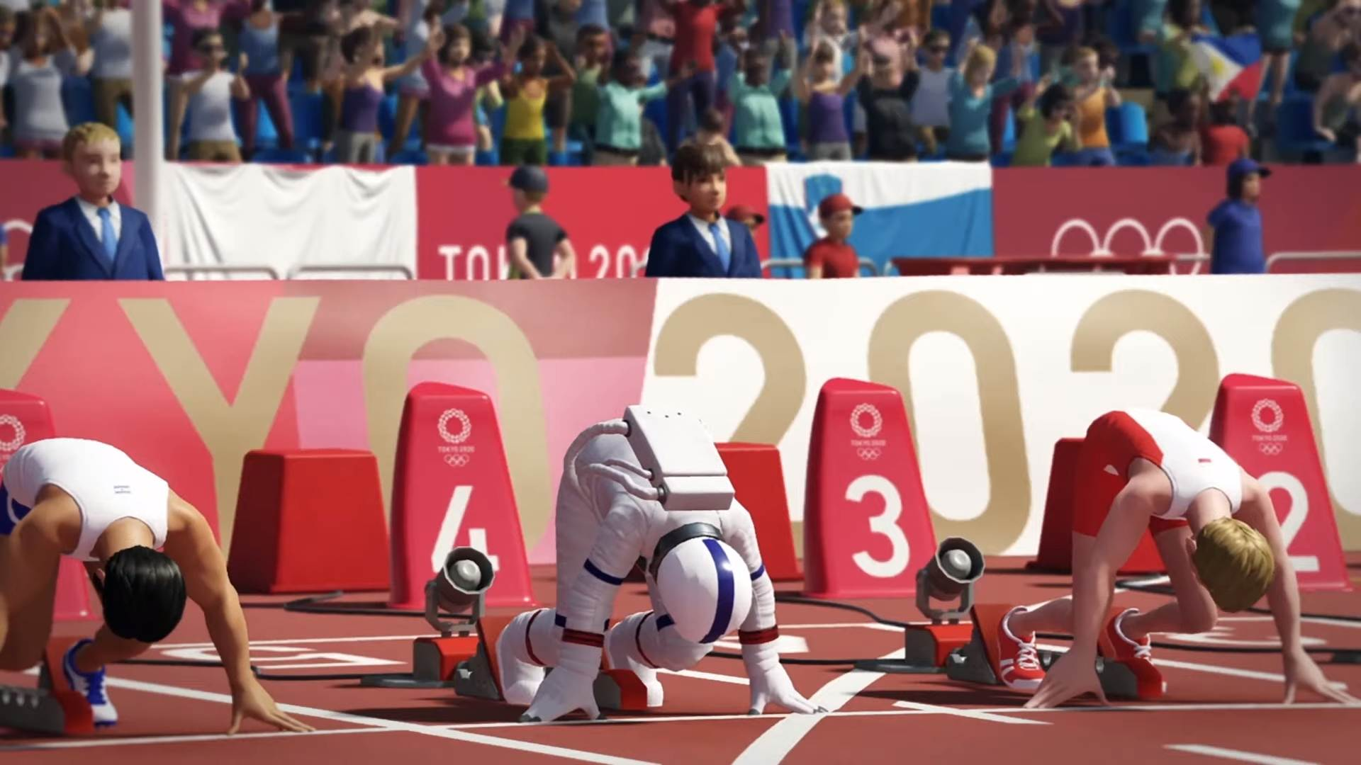 Finally, I can be the track-and-field astronaut of my dreams in Olympic Games Tokyo 2020: The Official Video Game screenshot