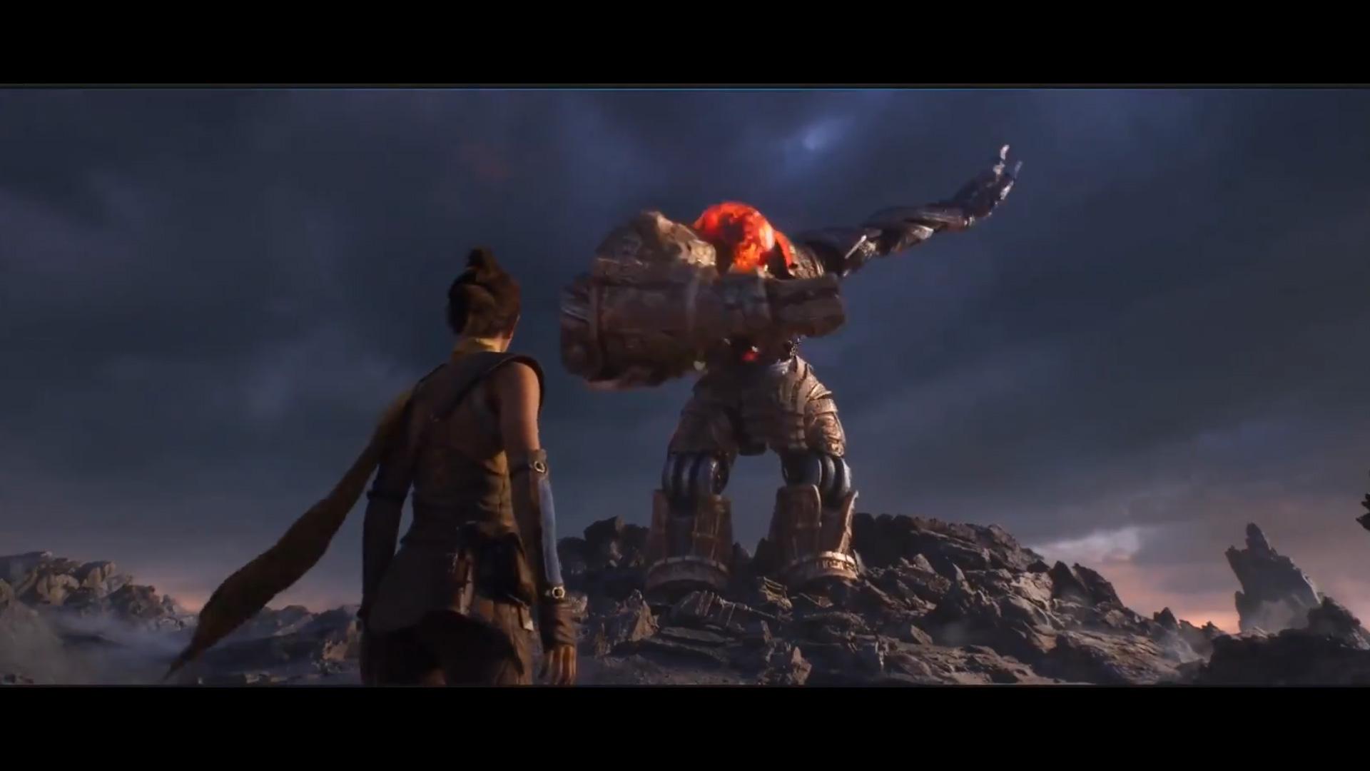Unreal Engine 5 demo's robot dabs if you input the Konami code screenshot