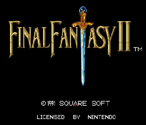 Final Fantasy IV title screen