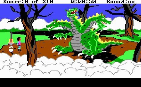 King's Quest III dragon