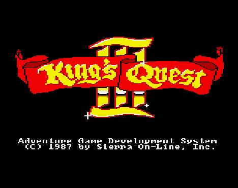 King's Quest III title screen