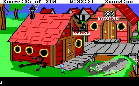 King's Quest III village