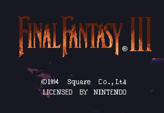 Final Fantasy VI title screen