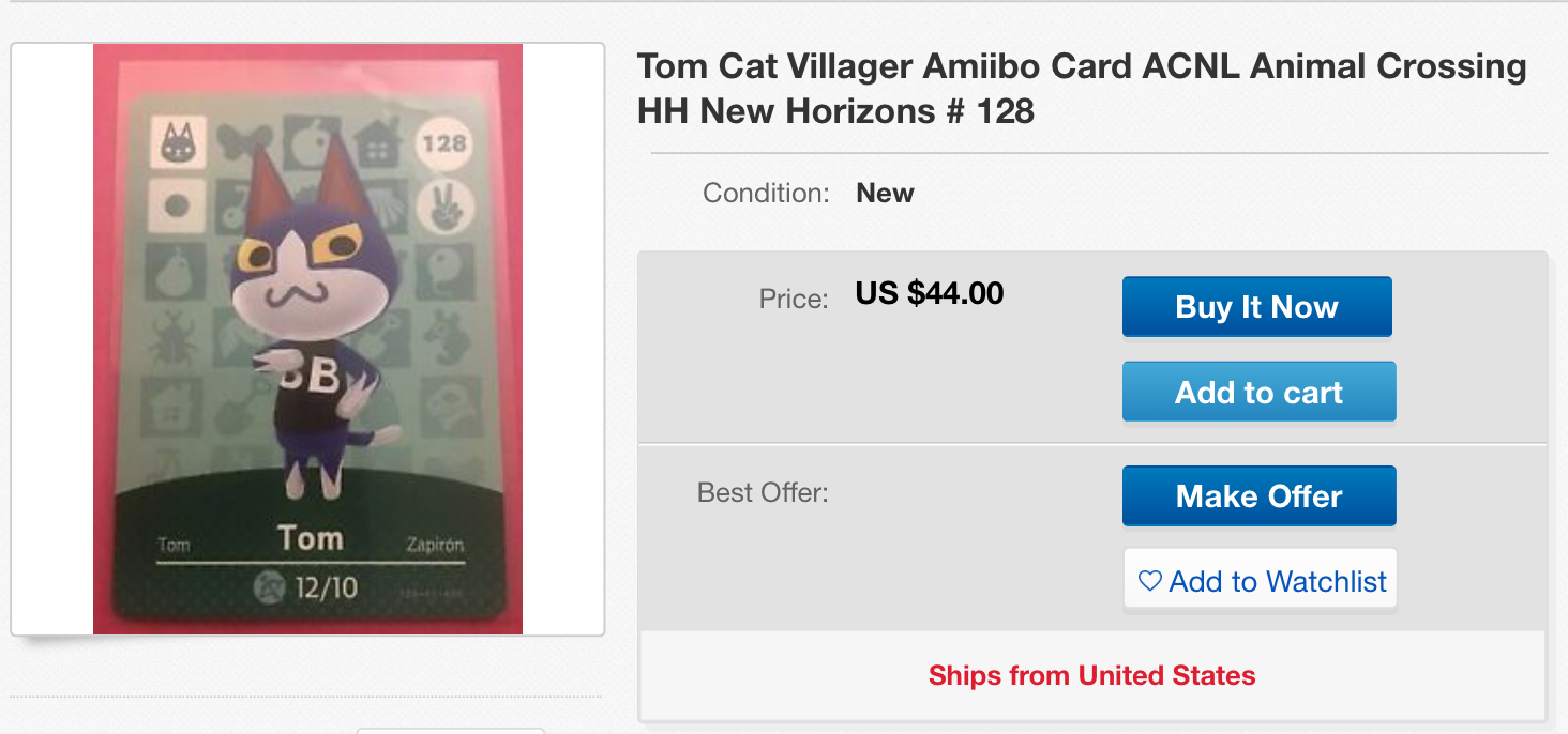 People On Ebay Are Asking Insane Prices For These Animal Crossing
