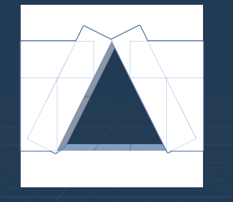 Triangle slot shape