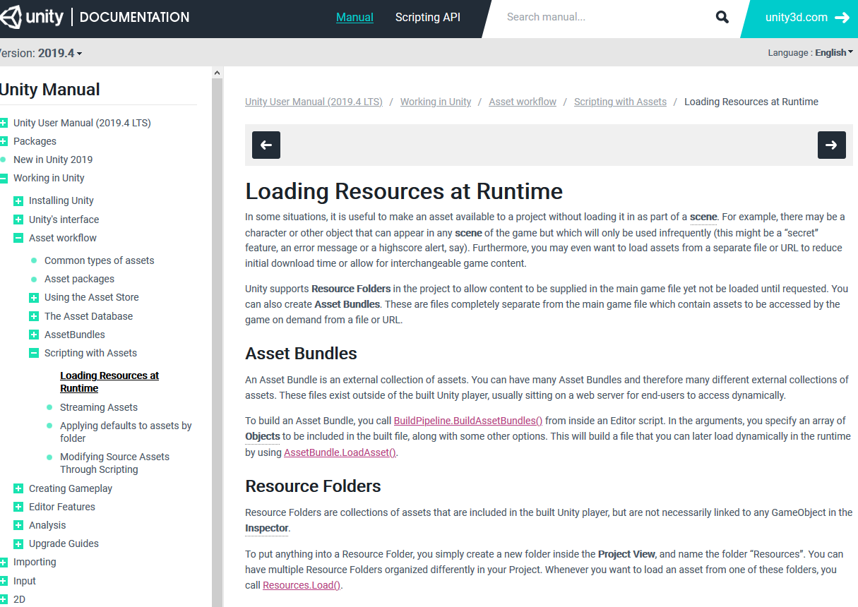 Loading resources script