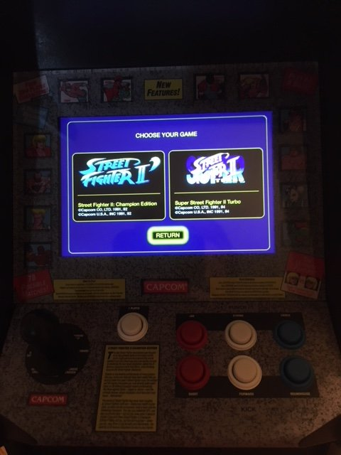 Replicade Street Fighter Game Selection