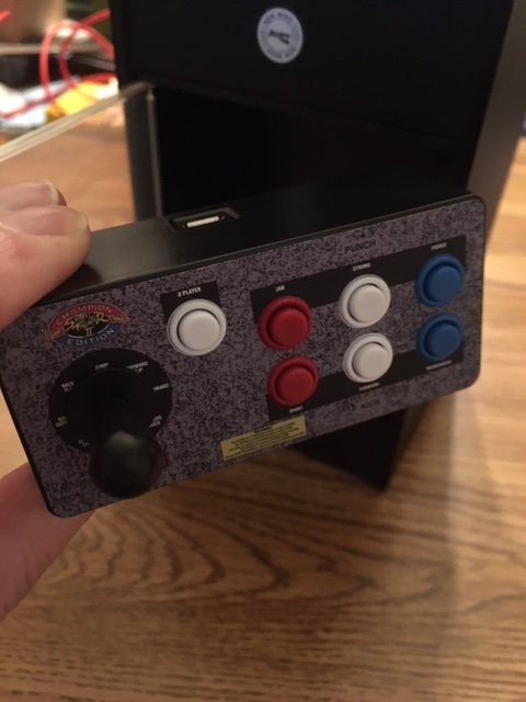 Replicade Street Fighter Fight Stick Close-up