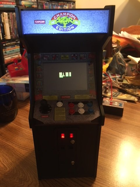 Replicade Street Fighter Boot Up