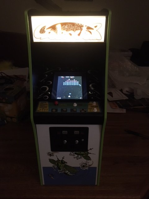 Numskull Galaxian Powered On (Lights Out)