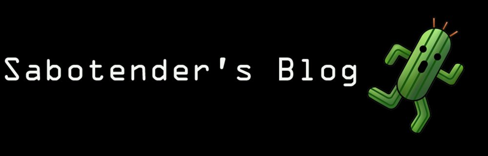 Sabotender blog header photo